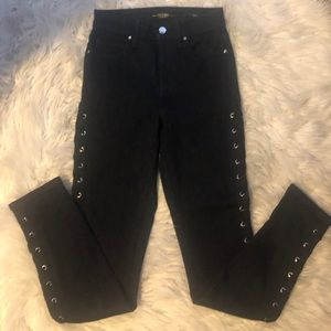 Guess jeans with side lace ties